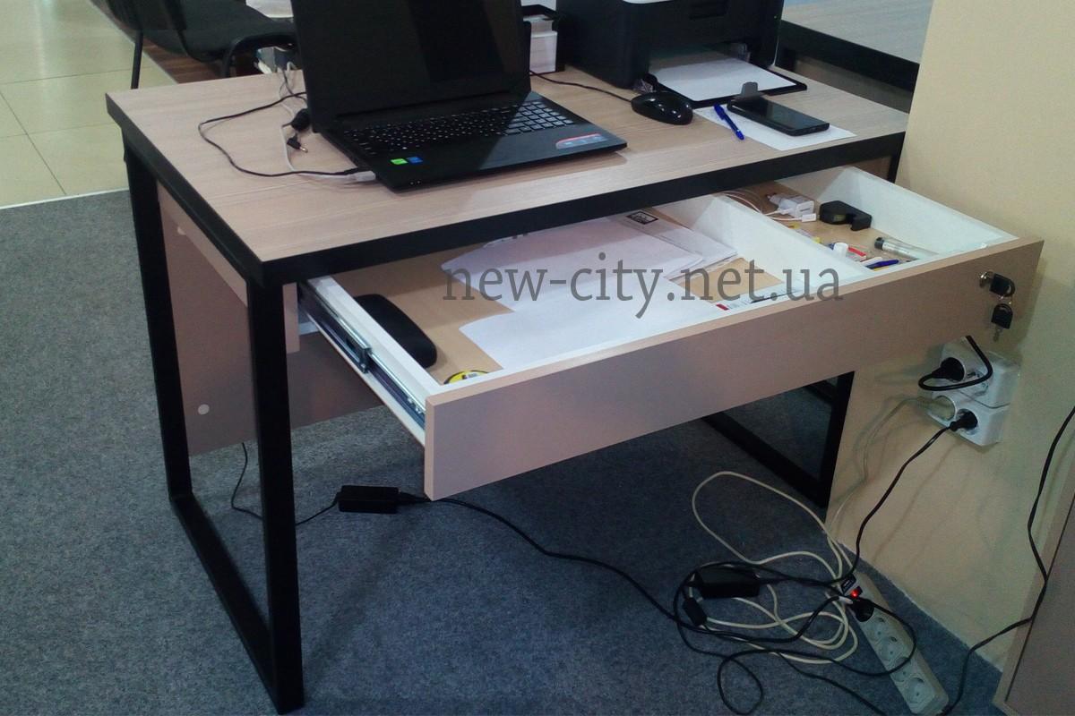 Стол компьютерный офисный лофт new city.